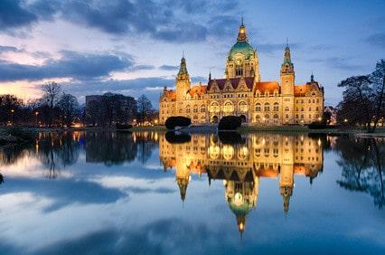 Rathaus Hannover in der Nacht