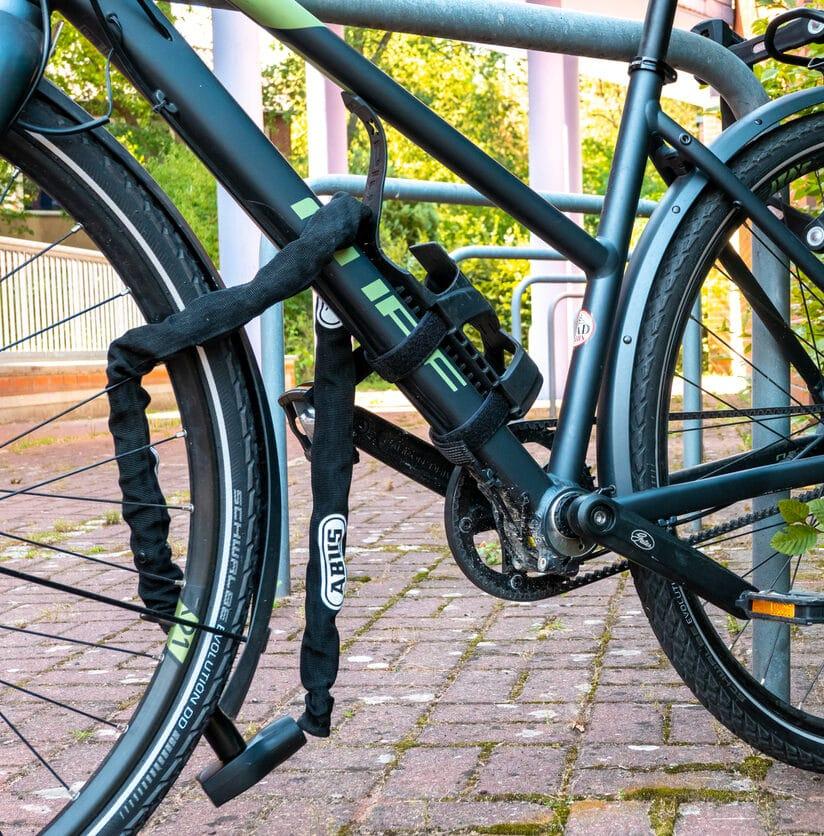 Fahrradschloss abgeschlossen